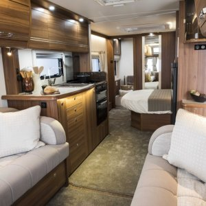 Some luxury caravans like the Buccaneer range include underfloor heating as a feature.